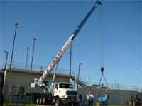 On site in Tampa providing crane service to a local company.