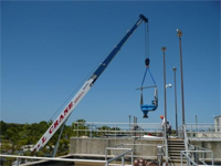 Finishing a job in Tampa with our 40 ton crane.